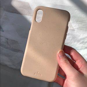 Pela iPhone XS Eco-Friendly Case in Sea Shell